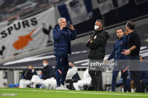 Jose Mourinho, Manager of Tottenham Hotspur reacts during the Carabao Cup fourth round match between Tottenham Hotspur and Chelsea at Tottenham...