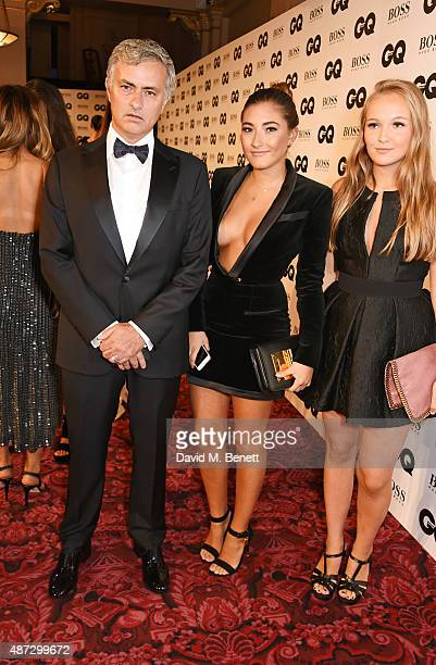 Jose Mourinho Matilde Mourinho and guest attend the GQ Men Of The Year Awards at The Royal Opera House on September 8 2015 in London England
