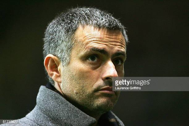 Jose Mourinho of Chelsea during the Carling Cup Fourth Round match between Newcastle United and Chelsea at St James Park on November 10 2004 in...