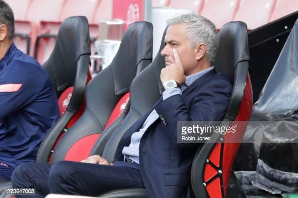 Jose Mourinho of Tottenham Hotspur before the Premier League match between Southampton and Tottenham Hotspur at St Mary's Stadium on September 20...