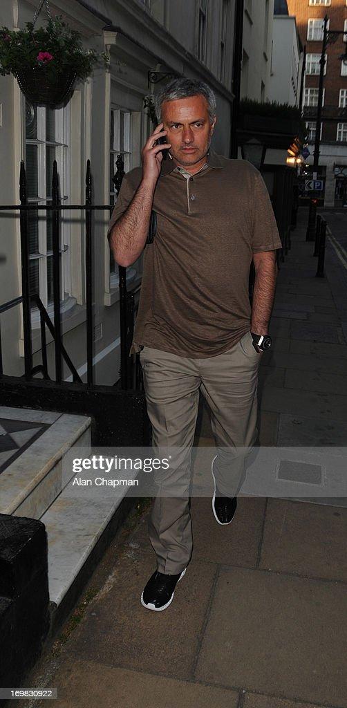 Jose Mourinho sighting in Mayfair on June 2, 2013 in London, England.