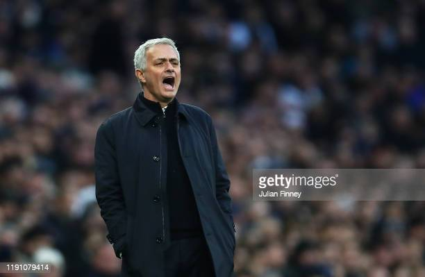 Jose Mourinho, Spurs manager gives instructions during the Premier League match between Tottenham Hotspur and AFC Bournemouth at Tottenham Hotspur...