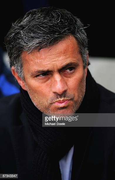 Jose Mourinho, the Chelsea manager, looks on during the Barclays Premiership match between Bolton Wanderers and Chelsea at the Reebok Stadium on...