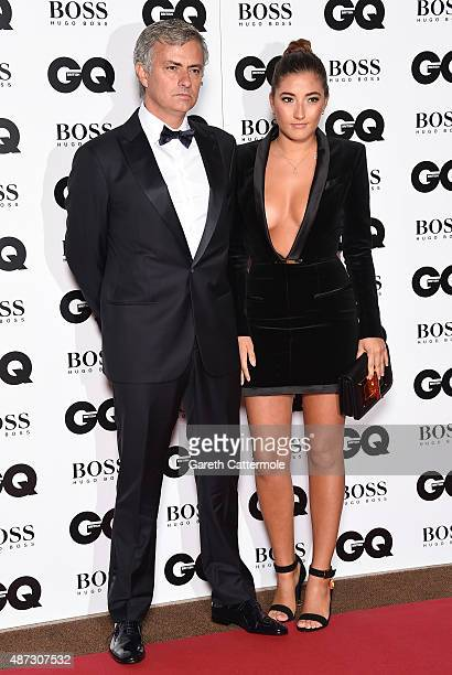 Jose Mourinho with daughter Matilde attends the GQ Men Of The Year Awards at The Royal Opera House on September 8 2015 in London England