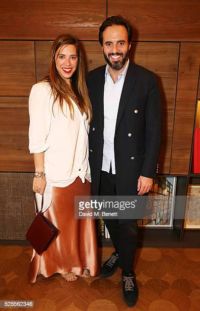 Jose Neves and Daniela Cecilio attend the BFC Fashion Trust x Farfetch cocktail reception on April 28, 2016 in London, England.