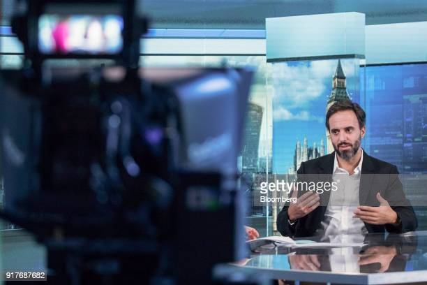 Jose Neves founder and chief executive officer of Farfetch UK Ltd speaks during a Bloomberg Television interview in London UK on Tuesday Feb 13 2018...