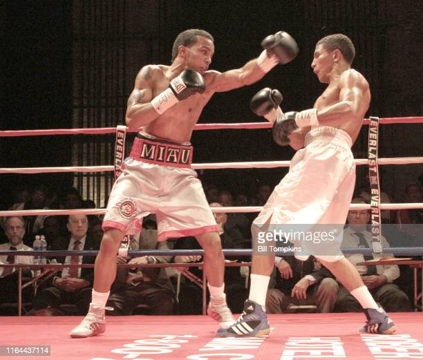Jose Nieves defeats Angel Priolo by Unanimous Decision in their BantamWeight fight at BOXEO CALIENTE , a boxing and Reggaeton event at the Paradise...