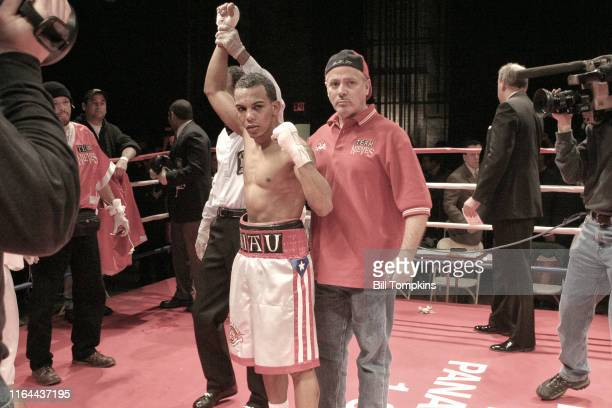 Jose Nieves defeats Angel Priolo by Unanimous Decision in their BantamWeight fight at BOXEO CALIENTE a boxing and Reggaeton event at the Paradise...
