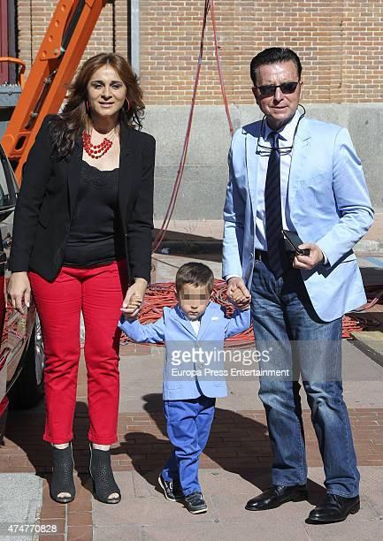 Jose Ortega Cano Ana Maria Aldon and Jose Maria Ortega attend bullfighting during San Isidro Fair at Las Ventas Bullring on May 22 2015 in Madrid...