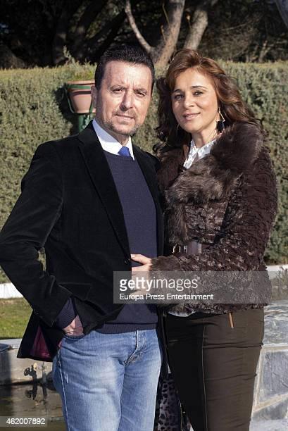 Jose Ortega Cano and Ana Maria Aldon are seen on January 06 2015 in Madrid Spain