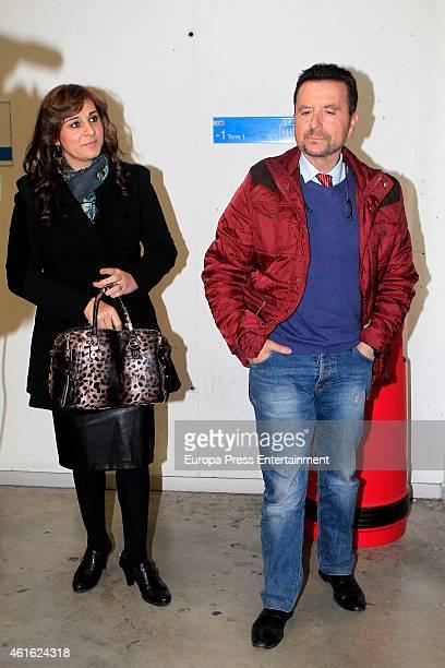 Jose Ortega Cano and Ana Maria Aldon are seen on January 8, 2015 in Madrid, Spain.