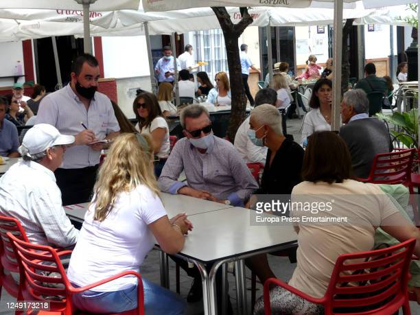 Jose Ortega Cano and Ana Maria Aldon are seen on June 11, 2020 in San Lucar de Barrameda, Spain.