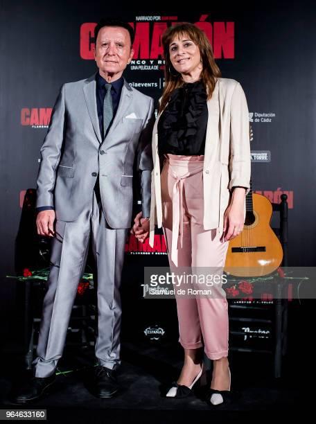 Jose Ortega Cano and Ana Maria Aldon attend 'Camaron: Flamenco Y Revolucion' Madrid Premiere on May 31, 2018 in Madrid, Spain.