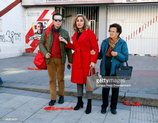 Jose Ortega Cano and Ana Maria Aldon attend celebrities against Bullfighters charity football match on on December 28 2019 in Madrid Spain