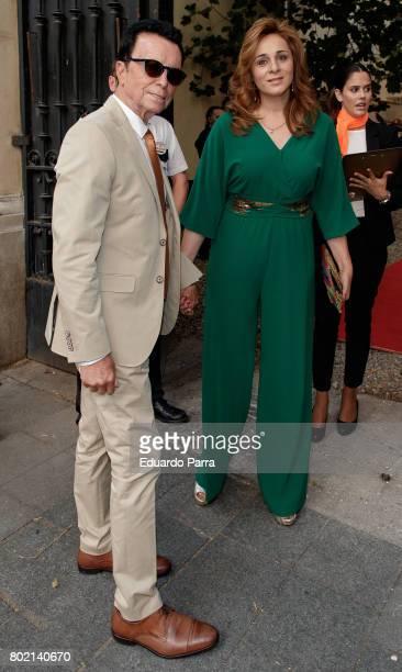 Jose Ortega Cano and Ana Maria Aldon attend the 'Corazon 20th anniversary' party at Alma club on June 27 2017 in Madrid Spain