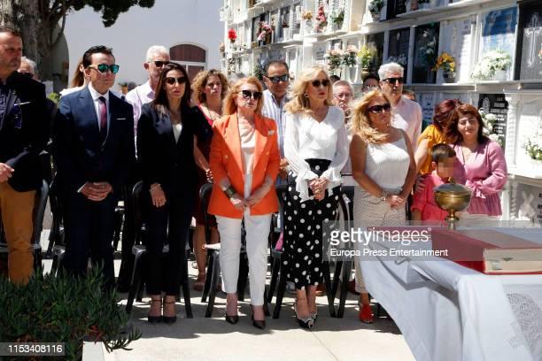 Jose Ortega Cano, Gloria Mohedano, Rosa Benito and Mari Carmen Ortega Cano attend Rocio Jurado's Internacional Day, an homage to the singer dead in...