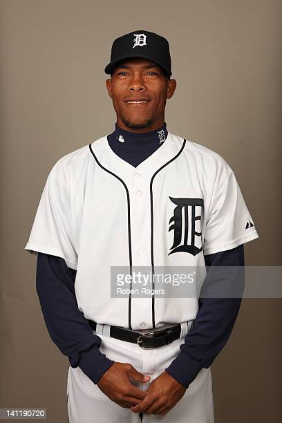 Jose Ortega of the Detroit Tigers poses during Photo Day on Tuesday February 28 2012 at Joker Marchant Stadium in Lakeland Florida