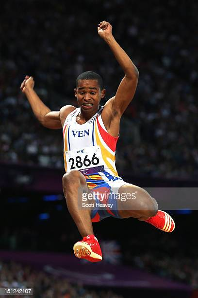 Jose Ortiz of Venezuela competes in the Men's Long Jump F20 Final on day 6 of the London 2012 Paralympic Games at Olympic Stadium on September 4 2012...
