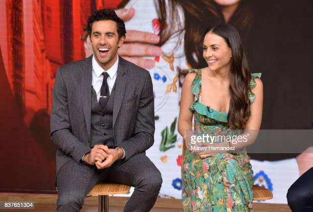 Jose Pablo Minor and Zuria Vega at the Press Conference for new soap opera Mi Marido Tiene Familia at Univision Studios on August 21 2017 in Doral FL
