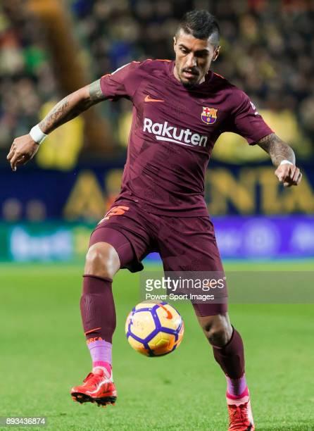Jose Paulo Bezerra Maciel Junior Paulinho of FC Barcelona in action during the La Liga 201718 match between Villarreal CF and FC Barcelona at Estadio...
