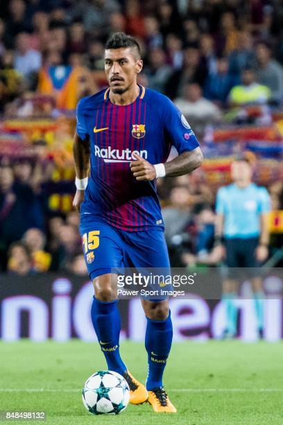 Jose Paulo Bezerra Maciel Junior Paulinho of FC Barcelonain action during the UEFA Champions League 201718 match between FC Barcelona and Juventus at...