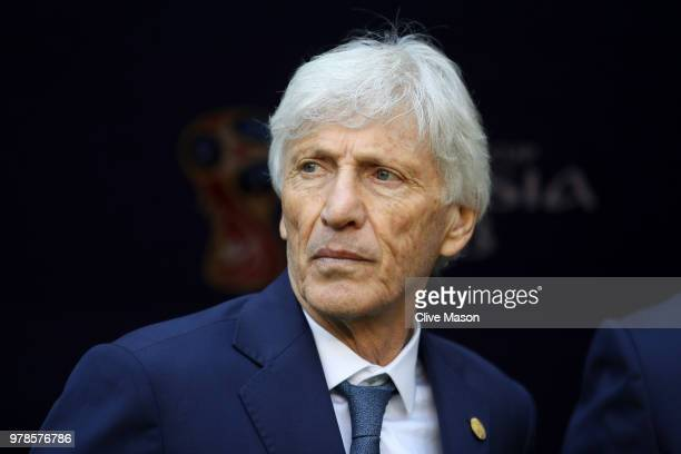 Jose Pekerman Head coach of Colombia looks on during the 2018 FIFA World Cup Russia group H match between Colombia and Japan at Mordovia Arena on...