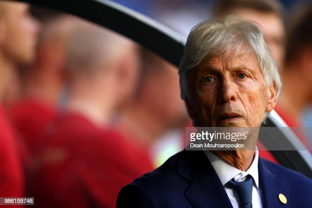 Jose Pekerman Head coach of Colombia looks on prior to the 2018 FIFA World Cup Russia group H match between Senegal and Colombia at Samara Arena on...