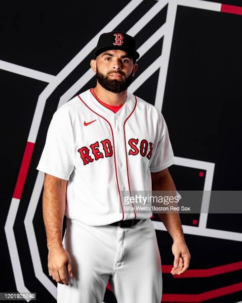 Jose Peraza of the Boston Red Sox poses for a portrait during team photo day on February 19, 2020 at jetBlue Park at Fenway South in Fort Myers,...