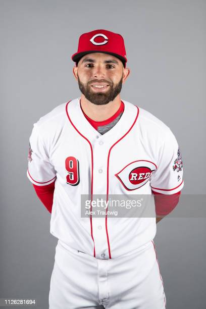 Jose Peraza of the Cincinnati Reds poses during Photo Day on Tuesday, February 19, 2019 at Goodyear Ballpark in Goodyear, Arizona.