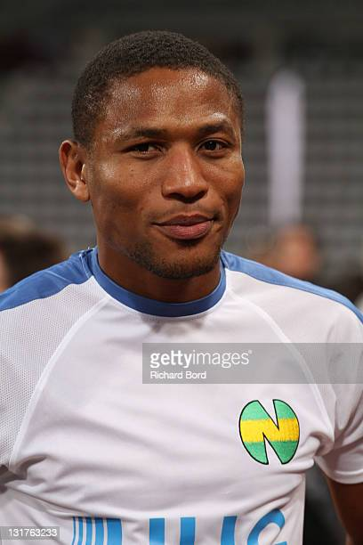 Jose Pierre Fanfan poses during the World Charity Soccer 2010 Charity Match for Haiti at Stade Charlety on May 19 2010 in Paris France