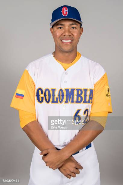 Jose Quintana Team Colombia poses for a headshot for Pool C of the 2017 World Baseball Classic on Tuesday March 7 2017 at CenturyLink Sports Complex...