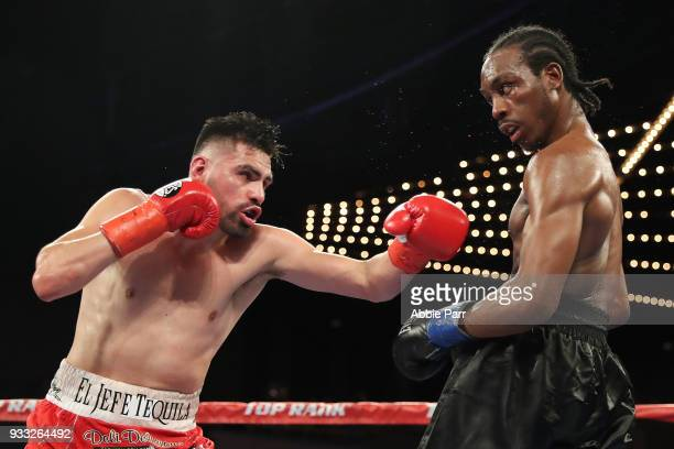 Jose Ramirez and Amir Imam fight during their WBC junior welterweight fight at The Theatre at Madison Square Garden on March 17 2018 in New York City