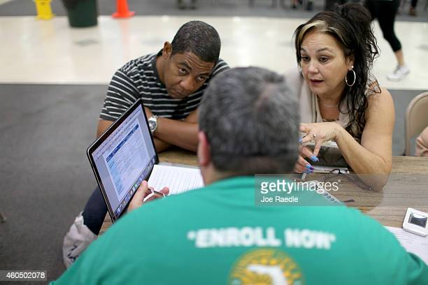 Jose Ramirez and Mariana Silva speak with Yosmay Valdivia an agent from Sunshine Life and Health Advisors as they discuss plans available from the...