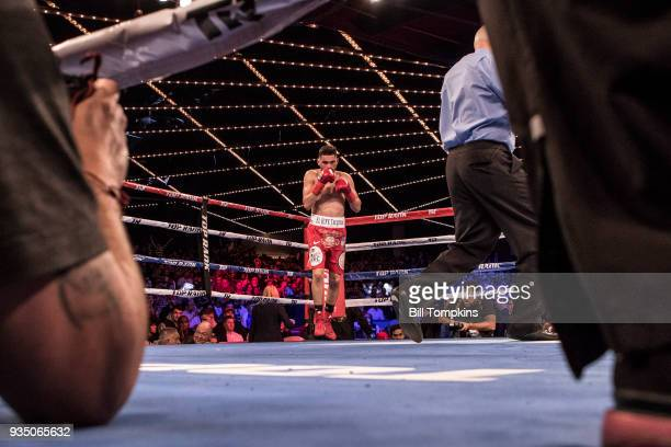 Jose Ramirez defeats Amir Imam by Unaimous Decision in their Super Lightweight Title fight at The Hulu Theatre at Madison Square Garden on March 17,...