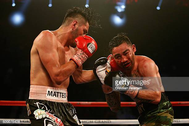 Jose Ramirez lands a left to the head of Manny Perez during their super lightweight fight on April 9, 2016 at MGM Grand Garden Arena in Las Vegas,...