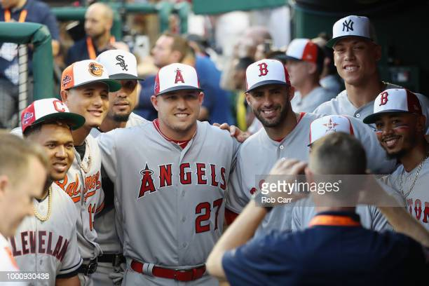Jose Ramirez of the Cleveland Indians and the American League, Manny Machado of the Baltimore Orioles and the American League, Jose Abreu of the...