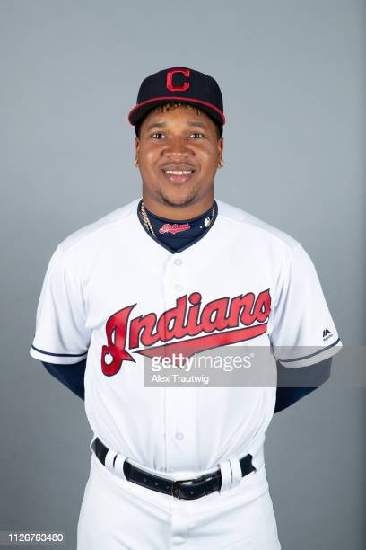 Jose Ramirez of the Cleveland Indians poses during Photo Day on Thursday February 21 2019 at Goodyear Ballpark in Goodyear Arizona