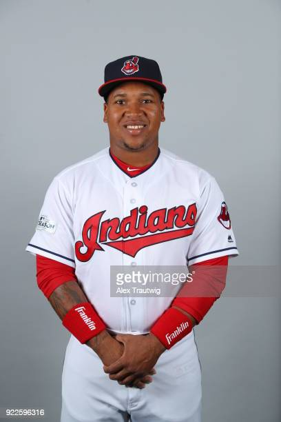 Jose Ramirez of the Cleveland Indians poses during Photo Day on Wednesday February 21 2018 at Goodyear Ballpark in Goodyear Arizona