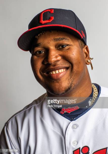 Jose Ramirez of the Cleveland Indians poses for a portrait at the Cleveland Indians Player Development Complex on February 21 2019 in Goodyear Arizona