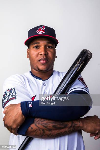 Jose Ramirez of the Cleveland Indians poses for a portrait during Indians Photo Day at the Goodyear Sports Complex on February 24 2017 in Goodyear...