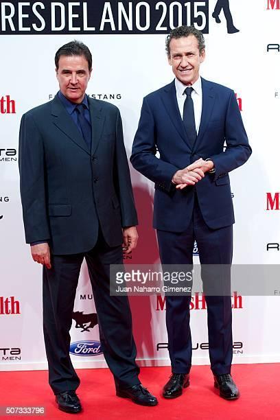Jose Ramon de la Morena and Jorge Valdano attend Men's Health 2015 Awards on January 28 2016 in Madrid Spain