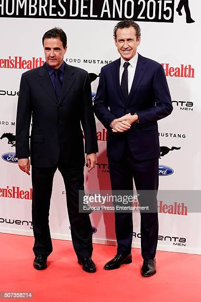 Jose Ramon de la Morena and Jorge Valdano attend Men's Health 2016 Awards on January 28 2016 in Madrid Spain