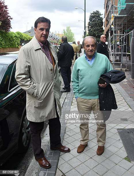 Jose Ramon de la Morena and Jose Maria Garcia are seen leaving restaurant on May 12 2016 in Madrid Spain