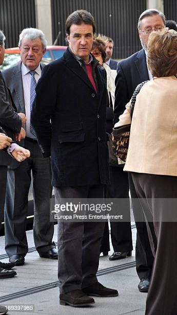 Jose Ramon de la Morena attends the funeral for Pitina Sandoval wife of Real Madrid Football Club president Florentino Perez on May 22 2013 in Madrid...