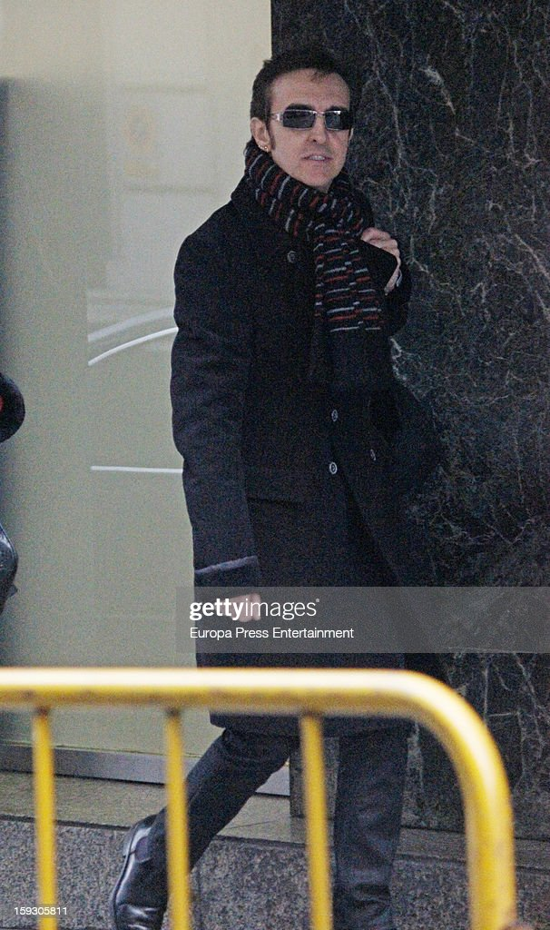Jose Ramon Marquez 'Ramoncin' attends the Court on January 11, 2013 in Madrid, Spain. The Spanish singer has been accused by Judge Ruz on charges of misappropriation and unfair administration and forgery.