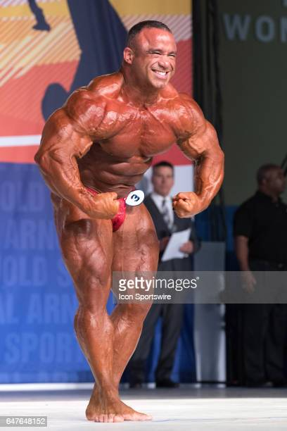 Jose Raymond competes in the Arnold Classic 212 as part of the Arnold Sports Festival on March 3 at the Greater Columbus Convention Center in...