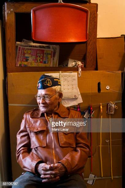 Jose Recto poses for a photograph inside his apartment May 5 2005 in San Francisco Mr Recto served under the Americans as a soldier in the New...