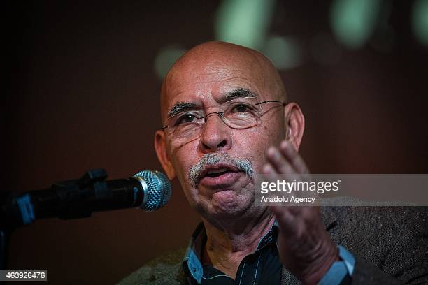 Jose Reveles writer and journalist during the press conference of the members of HIJOS Civil Organization on the occasion of its 15th anniversary and...