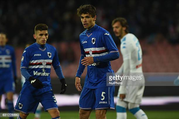 Jose Rodolfo Pires Dodo of UC Sampdoria during the Serie A TIM match between SSC Napoli and UC Sampdoria at Stadio San Paolo Naples Italy on 7...
