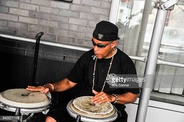 Jose Rodriguez performs during Make Music Day Uptown Funk/Street Studio Harlem at Mist Harlem on June 21 2016 in New York City